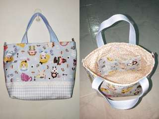 Ready stock customise small tote