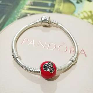 Pandora toddler size bracelet with minnie charm