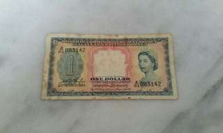 1953 Malaya and British Borneo $1