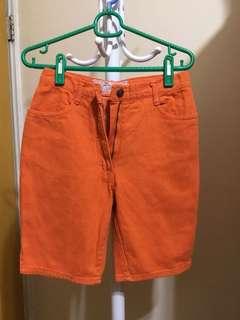 🚚 【古著】義大利品牌pop84 橘色五分褲