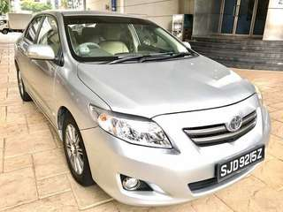 Grab for car RENT - Toyota Altis 1.6a $310/week