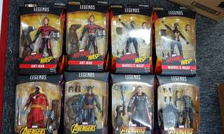 hasbro marvel legends avengers infinity wars wave 2 set of 8 ant man x2 wasp x2 malekith black knight thor black widow