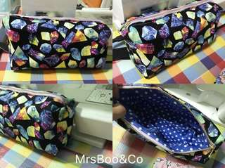 Ready customise large cosmetic size pouch