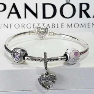 Pandora Bracelet with Charm Set