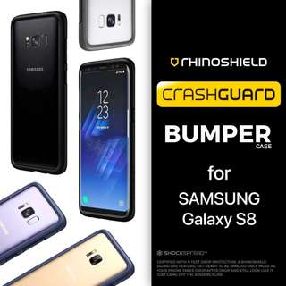 BRAND NEW RHINOSHIELD CRASHGUARD BUMPER CASE FOR SAMSUNG GALAXY S8 ONLY