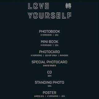 [W/O PC] BTS TEAR ALBUM