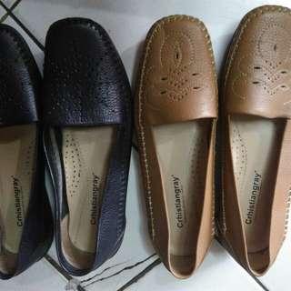 Sepatu kulit wanita ori