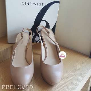 NINE WEST cozelle taupe high heels size 8M