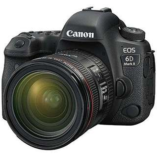 Canon EOS 6D Mark II DSLR Camera with EF 24-70 F4L IS USM