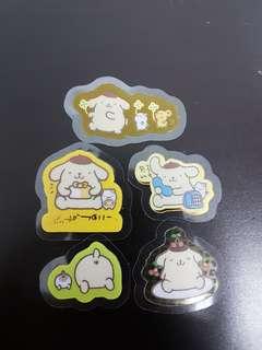 布甸狗 貼紙 pompompurin stickers