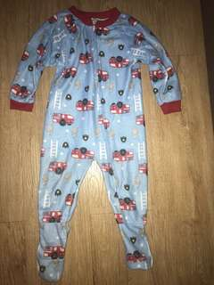 Fire Engine Sleep Suit