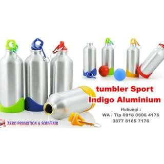 souvenir tumbler Sport Indigo Aluminium Bottle