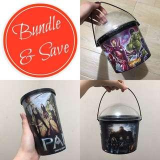 Popcorn Bucket x Drink and Snack Tumbler Bundle