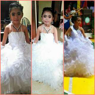 White gown for kids..