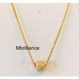 Loop pendant necklace set 916 gold