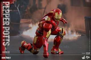 全新 未開盒1/6 1:6 Hot Toys HotToys IronMan Iron Man 3 Mark 9 & Pepper Potts MMS311 動漫節 avengers 玩具狂熱 tony stark