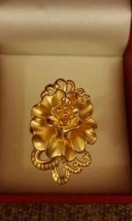 周大福  Chow Tai Fook 足金 全新 硬金 定價 花型 戒指 介子 母親節 禮物