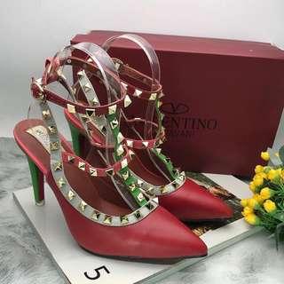 Heels strappy valentino rainbow premium import