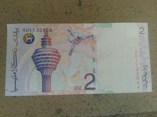 Wang Kertas RM2 Lama ( Rare )