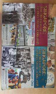 Secondary 1 and 2 singapore history textbooks
