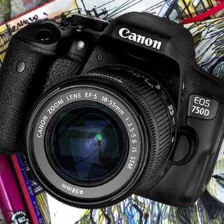 Camera canon dslr 750D bisa di cicil tanpa kartu credit cicilan 0%
