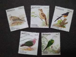 Malaysia 2005 Birds Series Definitive Loose Set Short Of 40c, 75c & $2 - 5v Used Stamps #2