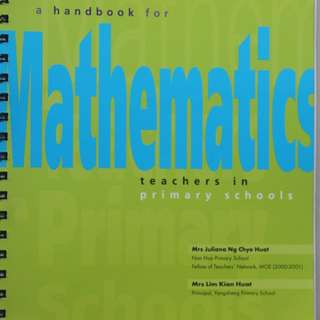 A Handbook for Mathematics Teachers in Primary Schools