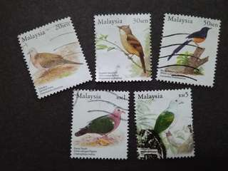 Malaysia 2005 Birds Series Definitive Loose Set Short Of 40c, 75c & $2 - 5v Used Stamps #3