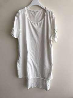 Avant-garde cotton long tee Made to Order