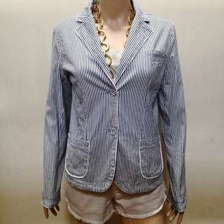 Tommy Hilfiger Striped Cotton Jacket for Women