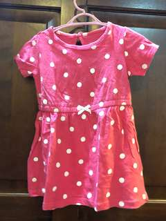 Carter's polkadot pink dress