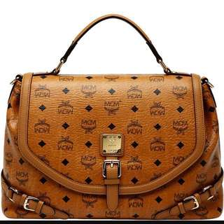 Authentic MCM medium Satchel Bag