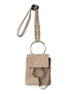Brand New Chloe Faye Small Suede & Leather Bracelet Bag