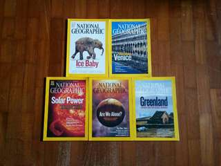 $4 for 5, National Geographic (2009/2010 issues)
