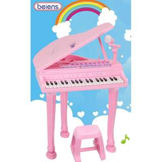 Children's Musical Instrument Keyboard Play Set with Stool - 37 Keys (No microphone/MP3)