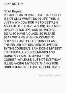 TO ALL BUYERS!!!!