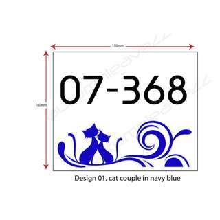 Acrylic House Number Plate