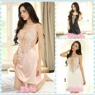 Muimui Polyester Lingerie Nightdress G-string With 3 Colour MS1041