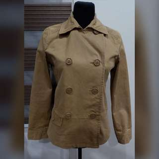 ‼️SALE‼️🍂Re* OLIVE des OLIVE Brown Double-Breasted Coat🍂