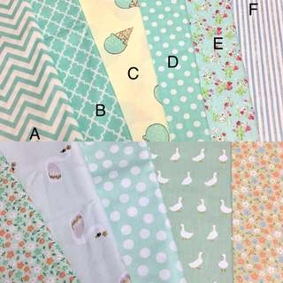 Raya promotion 8pcs of Quality 100% cotton baby fabric/kain diy cotton cloth