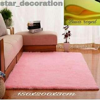 Karpet bulu raspur 200x150x3cm lembut dan tebal