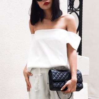 Eight Slate Laurie Off shoulder white top