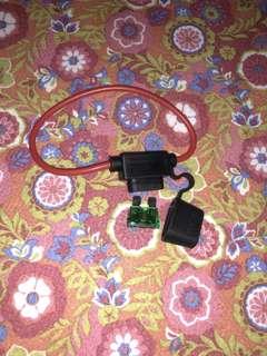 waterproof battery fuse socket