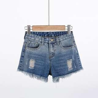 (XL~5XL) 2018 summer fashion fringe denim shorts women's hot pants