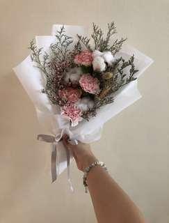 Medium sized Carnation x Cotton Flowers