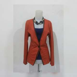 Orange Long Blazer