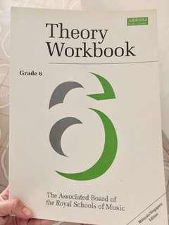 Grade 6 Piano Music theory workbook ABRSM