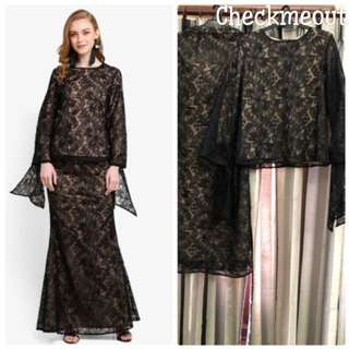 👗3 Days Rent/Sewa👗Lubna Full Lace Tied Knot Sleeves
