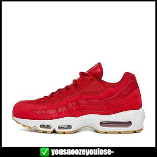 e8b3188af45  PREORDER  NIKE AIR MAX 95 EXOTIC SKINS GYM RED GUM SOLE
