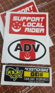ADV Sg with Support Local Rider sticker